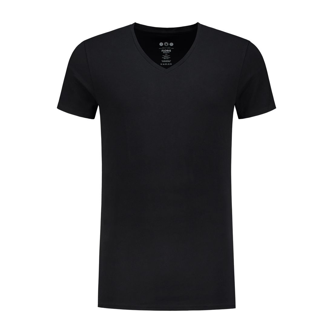 Afbeelding van A dam Underwear floris V hals shirt long zwart heren