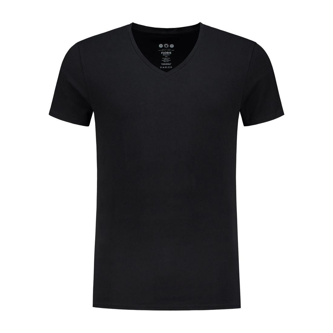 Afbeelding van A dam Underwear floris V hals shirt zwart heren