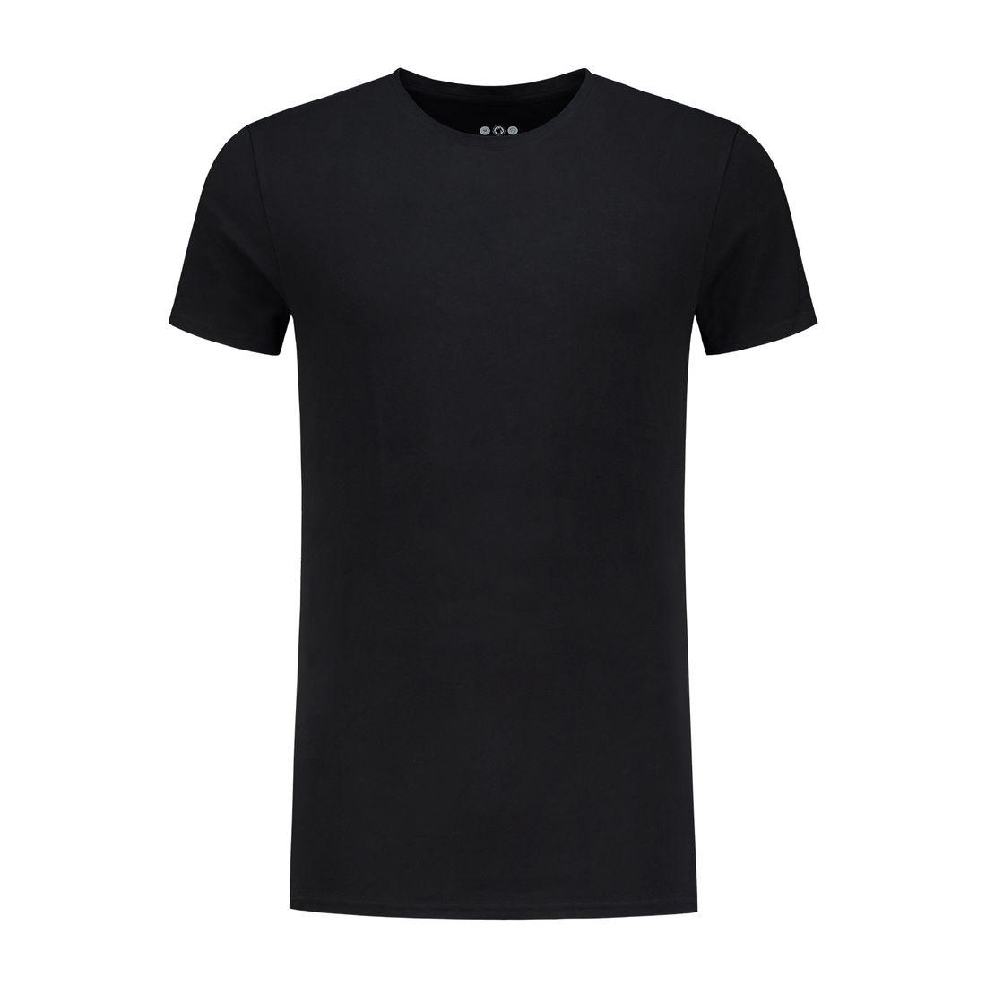 Afbeelding van A dam Underwear otis O hals shirt long zwart heren