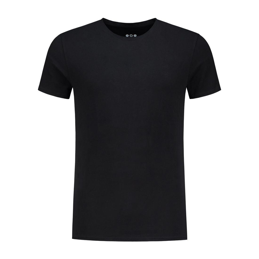 Afbeelding van A dam Underwear otis O hals shirt zwart heren