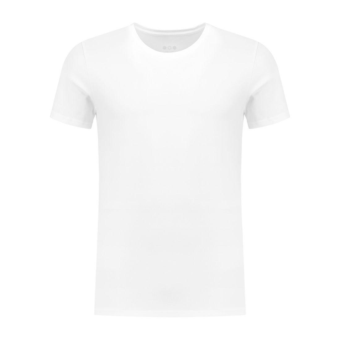 Afbeelding van A dam Underwear ties O hals shirt wit heren