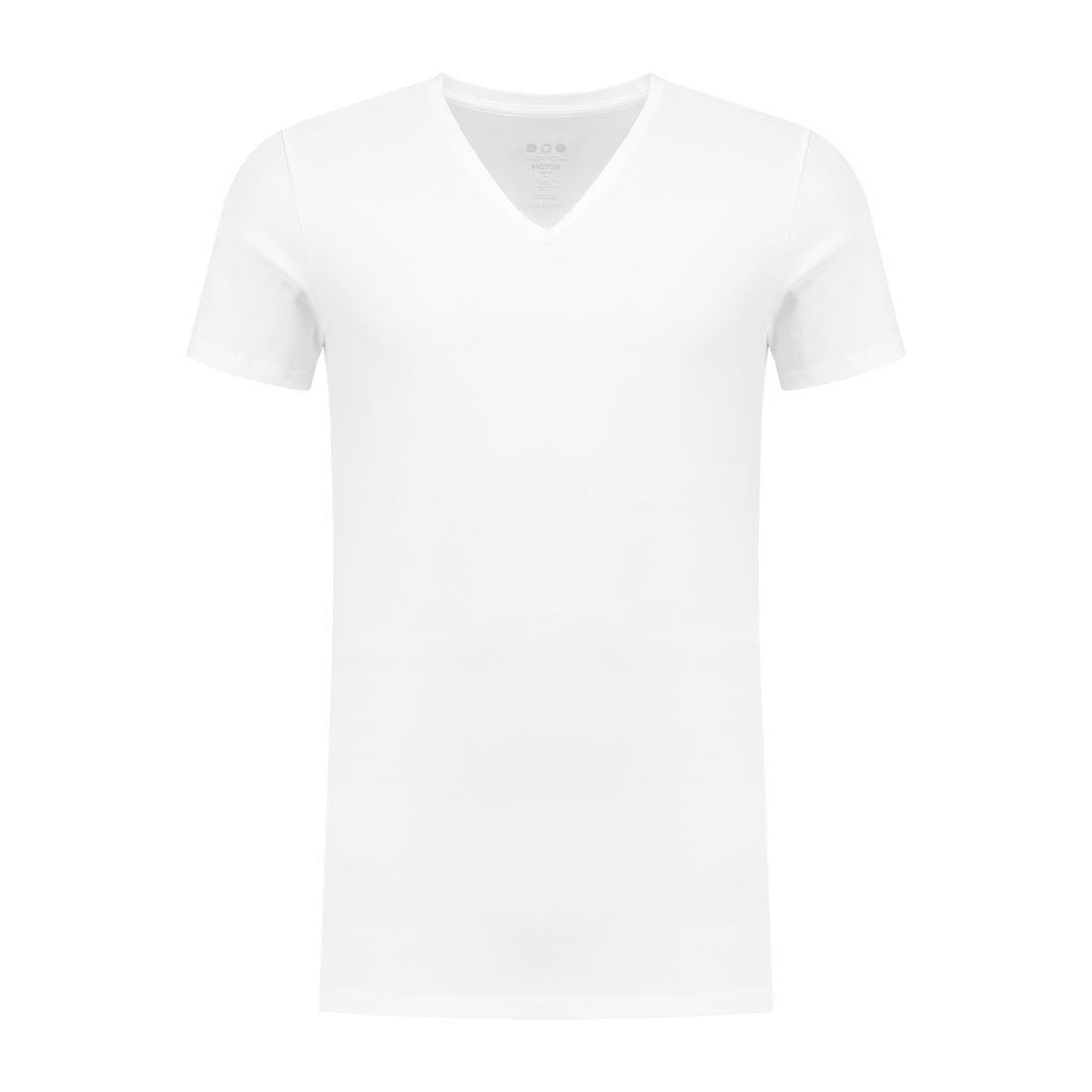 Afbeelding van A dam Underwear victor V hals shirt long wit heren