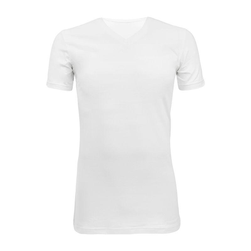 Afbeelding van Claesens basic V hals shirt wit heren