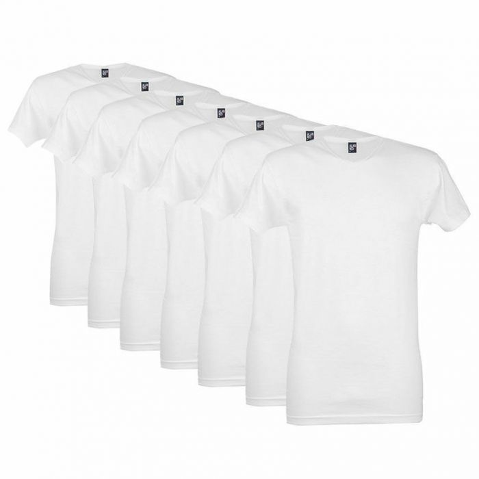 alan red vermont 7-pack v-hals shirts wit