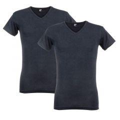 oklahoma 2-pack V-hals shirts donkerblauw