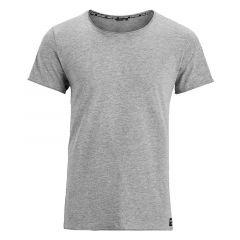 relaxed O-hals shirt grijs