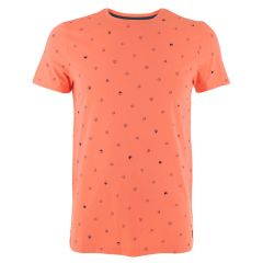 tim O-hals shirt mini print oranje