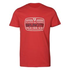 tim O-hals shirt big logo rood