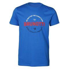 tim O-hals shirt logo blauw