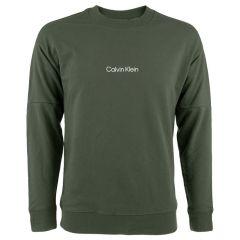 logo O-hals sweater groen
