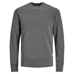 basic O-hals sweater grijs