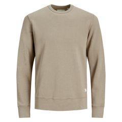 basic O-hals sweater beige