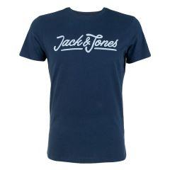 carlo O-hals shirt blauw
