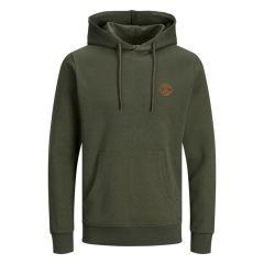 basic logo O-hals hoodie groen