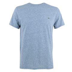 small logo O-hals shirt blauw III