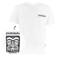 haena O-hals logo shirt wit