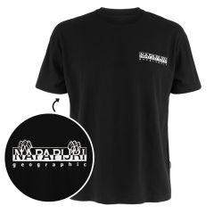 jurassic O-hals logo shirt zwart