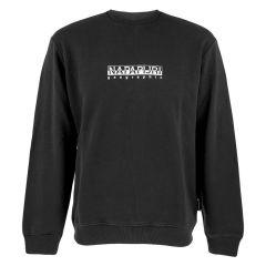b-box O-hals logo sweater zwart