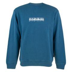 b-box O-hals logo sweater blauw