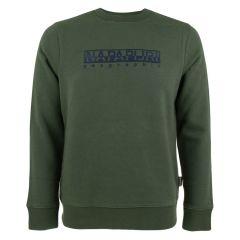 berber logo O-hals sweater groen