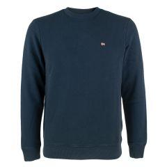 balis O-hals sweater blauw