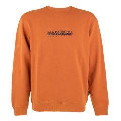 b-box O-hals logo sweater oranje