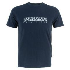 sallar O-hals logo shirt blauw II