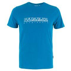 sallar O-hals logo shirt blauw