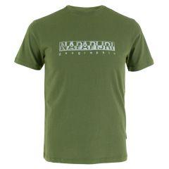 sallar O-hals logo shirt groen