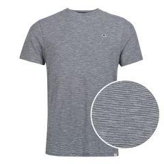 mini stripe O-hals shirt blauw