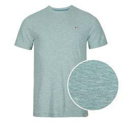 mini stripe O-hals shirt groen
