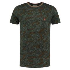 leaf O-hals shirt groen