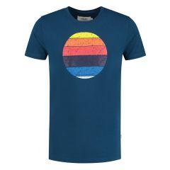 sunset shades O-hals shirt blauw