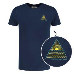 sunshine triangle O-hals shirt blauw