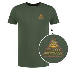 sunshine triangle O-hals shirt groen