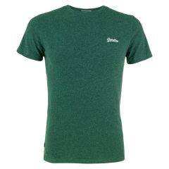 OL vintage embleem O-hals shirt groen III