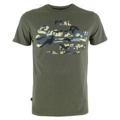 VL infill O-hals shirt groen