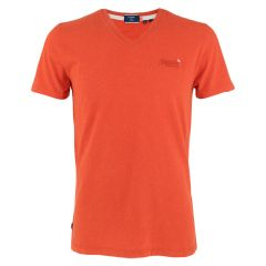 classic V-hals shirt rood