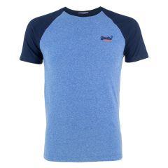 baseball O-hals shirt blauw