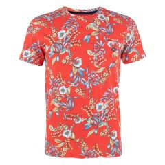 AOP pocket O-hals shirt rood