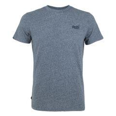 vintage logo embleem O-hals shirt blauw