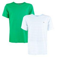jongens 2-pack O-hals shirts stripe multi