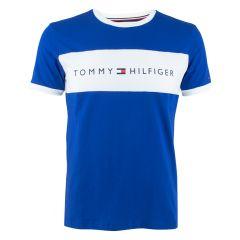 all over logo flag shirt blauw II