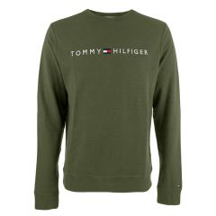 big logo O-hals long sleeve sweater groen