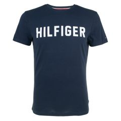 lounge hilfiger logo O-hals shirt blauw