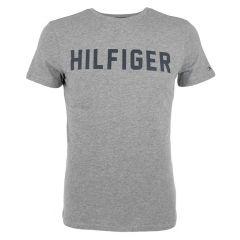 lounge hilfiger logo O-hals shirt grijs