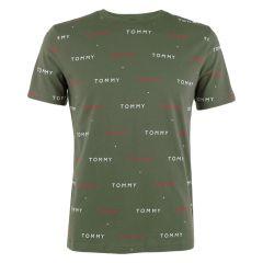 all over logo O-hals shirt groen