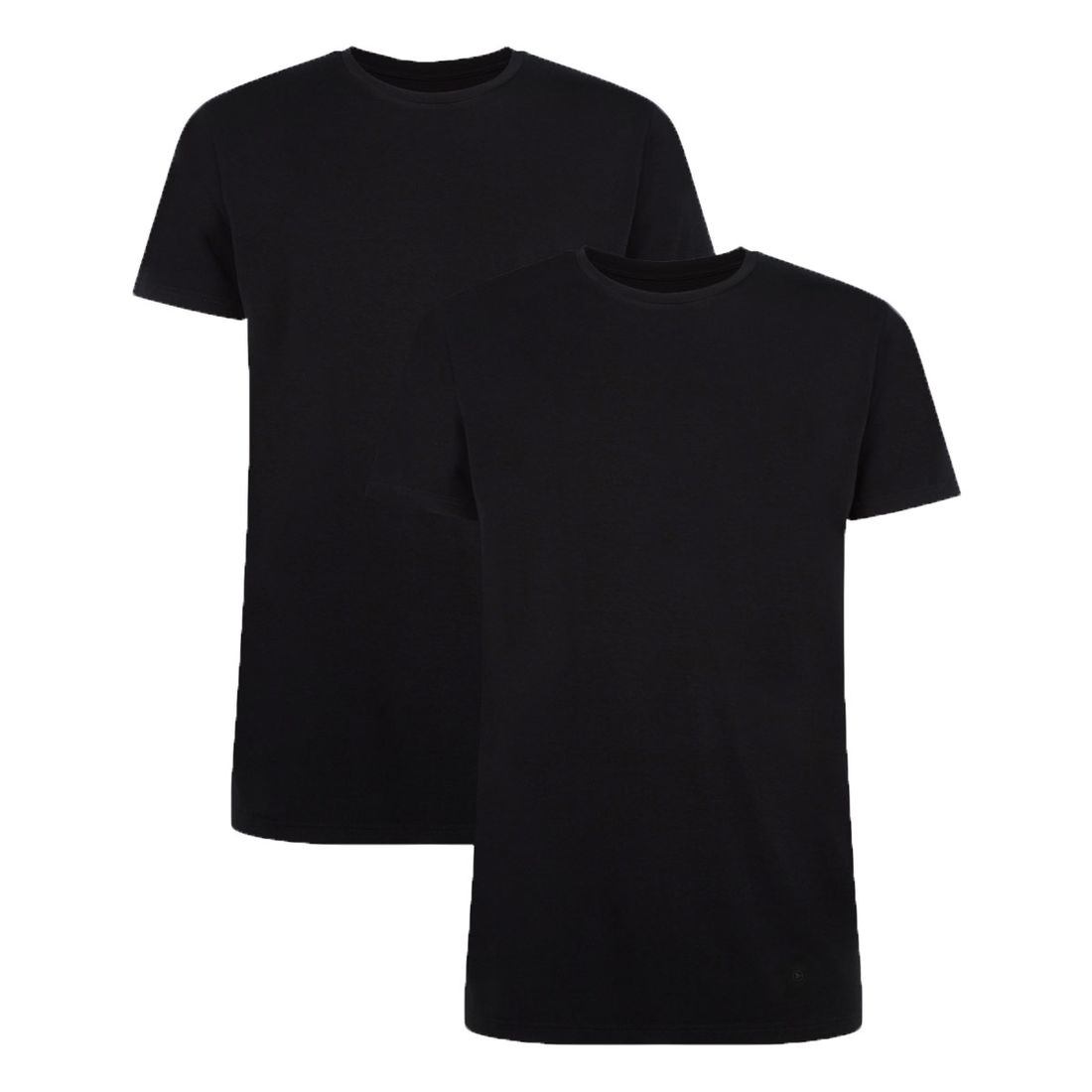 Afbeelding van Bamboo Basics ruben 2 pack O hals shirt zwart heren